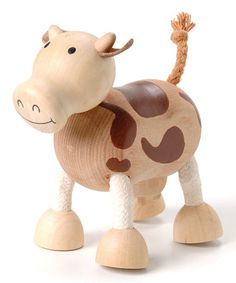 Cow Wooden Toy