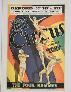 Bouglione Circus Human Cannon Ball Paris France Vintage Poster Repro FREE S//H