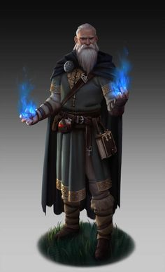 Mage by nathanparkart on character design person Fantasy Wizard, Fantasy Male, Fantasy Rpg, Medieval Fantasy, Fantasy Artwork, Fantasy Story, High Fantasy, Dungeons And Dragons Characters, Dnd Characters