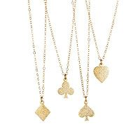 Dainty clay charm necklace