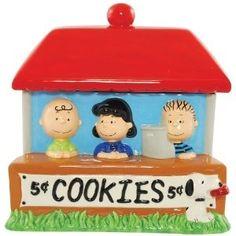Unique Cookie Jars | Peanuts Cookie Stand Cookie Jar