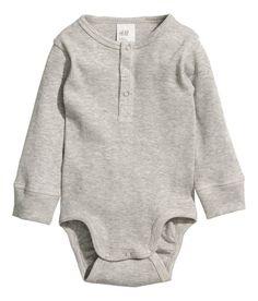 Långärmad body | Grå | Barn | H&M SE