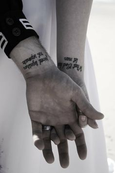 What god has joined together let man not separate . . .tattoo idea but maybe on ring fingers by teradeeg