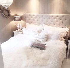 warm and cozy white bedroom scheme
