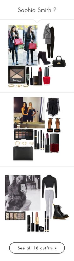 """""""Sophia Smith ✨"""" by officialarianagrandebutera ❤ liked on Polyvore featuring Topshop, Zara, Rimmel, Lipstick Queen, OPI, Mulberry, Anja, Givenchy, NARS Cosmetics and Maria Black"""