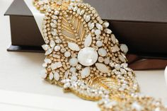 Vintage inspired Gold Bridal sash - Alba Gold (Style - S55) from MillieIcaro