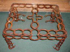 Horseshoe+Art+Ideas | Western Decor Horseshoe Furniture