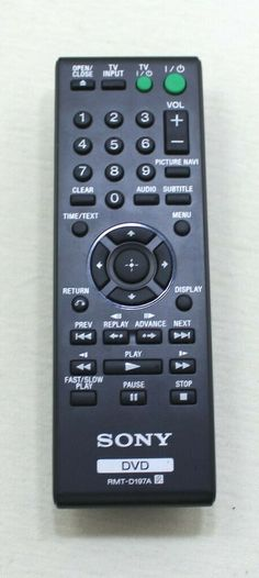 Sony Remote Control Model RMT-D197A DVD #Sony Sony, Remote, Model, Scale Model, Models, Mockup