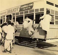 It seems two people don't like queuing.  Ha!                             Calcutta+1945