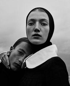Lou Schoof & Nils Schoof by Elizaveta Porodina for Vogue Ukraine December 2015
