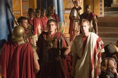 Rome - Octavian and Marcus Agrippa Rome Tv Series, Hbo Series, Series Movies, As Roma, Rome Hbo, Meeting Room Booking System, Indira Varma, Ray Stevenson, James Purefoy