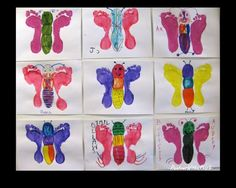 Foot print butterflies