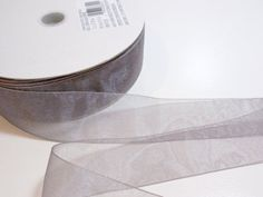 Offray Simply Sheer Asiana Organza Ribbon 1 1/2 inch wide x 10 yds, Pewter Gray #Offray
