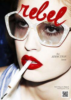 REBEL Typeface + Magazine Masthead on Adweek Talent Gallery