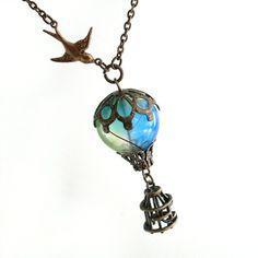 Bird and Balloon necklace