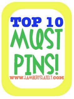 """List of 10 of the best pins...everything from beauty to home to recipes!  A must read for every """"pinner."""""""