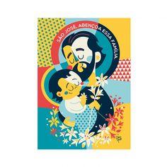 A história conta que Deus fez com que lírios nascessem no cajado de José como sinal de que ele foi escolhido para ser o pai de Jesus. Ele aceitou a responsabilidade e hoje é conhecido como Padroeiro das Famílias e dos Trabalhadores. TIM-TIM POR TIM-TIM: Todos os nossos posters são impressos em alta resolução em papel couché fosco 150g, nos tamanhos A3 (29,7cm x42cm) ou A4 (21cm x 29,7cm) e&n...