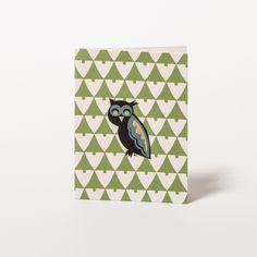 """Greeting card """"Owl in woods"""" by Rie Elise Larsen on www.papperlott.de"""