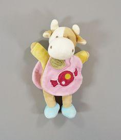 Doudou Vache rose cape bonbon Doudou et Compagnie 24 cm