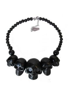 NECKLACE | Skull Collection [black]