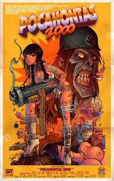 Pocahontas 2000 Poster by blitzcadet on DeviantArt Heavy Metal Comic, Heavy Metal Art, Bd Comics, Comics Girls, Character Art, Character Design, Comic Art Girls, Poster Photography, Lowbrow Art