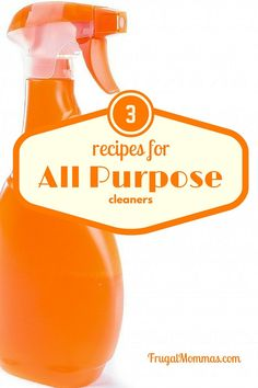 3 recipes for all purpose cleaners with essential oil options Frugal Family, Frugal Living Tips, Frugal Tips, Frugal Meals, Frugal Recipes, Family Recipes, Diy Organization, Organizing, All Purpose Cleaners