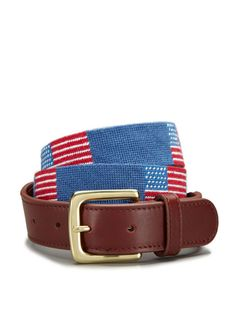 American Flag Needlepoint Belt