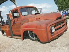 Rusty Rat Rod truck powered by cummins diesel