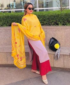 Punjabi Salwar Suits, Designer Punjabi Suits, Indian Designer Wear, Salwar Kameez, Indian Suits, Indian Wear, Salwar Designs, Fashion Dresses, Women's Fashion