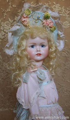 Kammer & Reinhardt 117 Mein Liebling bisque doll by Emily Hart Costume ribbonwork by Mary Lambeth