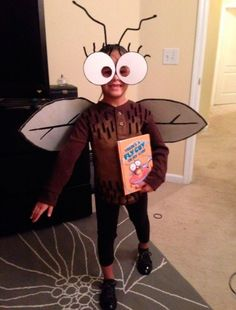 Pequeña y divertida mosca! Excelente disfraz y fácil de hacer!