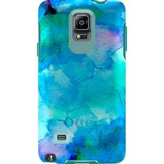 Stylish & Slim Galaxy Note 4 Case | Symmetry Series by OtterBox I have to have this watercolor case!!!!