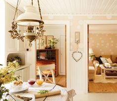 salon et salle à manger de style rustique chic authentique