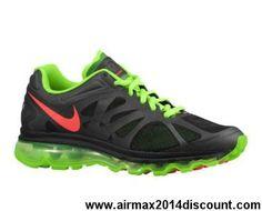 Mens 487982-063 Black Electric Green White Bright Crimson Nike Air Max 2012 Your Best Choice