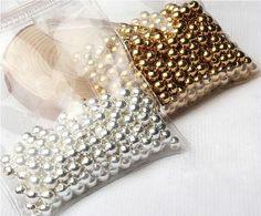 Złote i srebre beadsy w różnych rozmiarach DIY ● Bezpieczny Import z Chin ● 36.pl