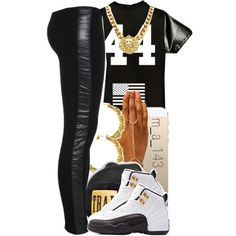 leather x gold | 3 - 3 - 14, created by mindlesslyamazing-143 on Polyvore