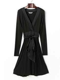Three Dots - stretch belt with coeur style long sleeve dress