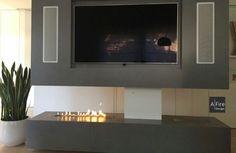 Modern Innovative Fireplace with Automatic Ethanol Burner AFIRE Flatscreen, Decoration, Fire, Living Room, Design, Tech, Google, Cozy Fireplace, Ethanol Fireplace