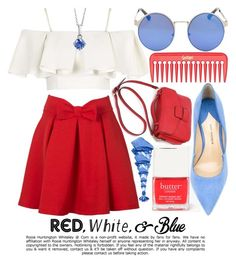 """""""RED, WHITE, & BLUE"""" by noraaaaaaaaa ❤ liked on Polyvore featuring Butter London, Topshop, Paul Andrew, NARS Cosmetics, BERRICLE, Whiteley, redwhiteandblue and july4th"""
