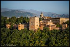 The Alhambra Castle Granada, Spain, Castle, Europe, Mansions, House Styles, Building, Travel, Good Times