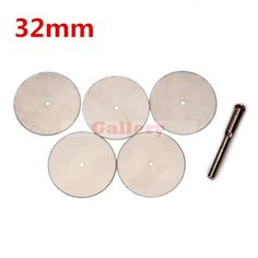 $18.63 (Buy here: http://appdeal.ru/6e20 ) 2 Sets Lot 5pcs 32mm Stainless Steel Slice Metal Cutting Disc with 1 Mandrel for Dremel Rotary Tools Steel Ring Steel Ring Men for just $18.63
