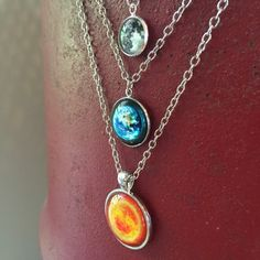 CENTER OF THE UNIVERSE GLOW-IN-THE-DARK NECKLACE