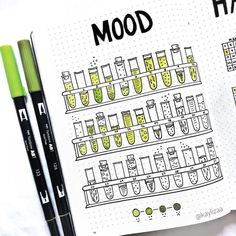 Unique Bullet Journal Mood Tracker Ideas to Keep You Mentally Equipped is part of Organization Printables Bullet Journal - For your daily dose of bullet journal inspiration, check out these unique bujo mood tracker ideas to keep you mentally equipped Bullet Journal Tracker, Bullet Journal Notebook, Bullet Journal Ideas Pages, Bullet Journal Inspo, Bullet Journal Layout, Bullet Journal Year In Pixels, Bullet Journal Ideas Templates, Journal Inspiration, Bujo Inspiration