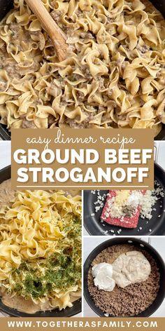Beef Recipes, Hamburger Recipes, Family Recipes, Cooking Recipes, Creamed Mushrooms, Stuffed Mushrooms, Easy Ground Beef Stroganoff, Gravy Packet