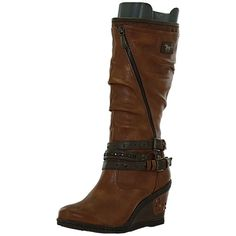 a6a70f2cbf117 bottes compensées 1083507 femme mustang 1083507 Chaussures Mustang