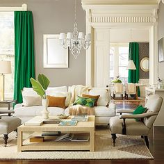 1 pair of Solid Kelly Green Curtains You choose your Size, Room Curtains, Window treatments, Green Curtains, Kelly Green Home Decor Green Sofa Design, Emerald Green Sofa, Emerald Color, Living Room Furniture, Living Room Decor, Living Room Designs, Living Spaces, Living Rooms, Family Rooms