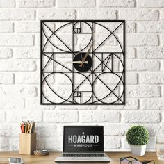 Section metal wall clock for a modern interior ! Our brand new collection is available on the Artwall and Co shop . Metal Wall Decor, Metal Wall Art, Dresden, Metal Design, Wall Accessories, Unique Home Decor, Metal Walls, Modern Interior, Interior Design