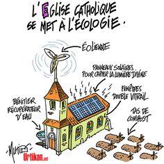 Le pape François et l'écologie : Tu ne pollueras point - Dessin du jour - Urtikan.net
