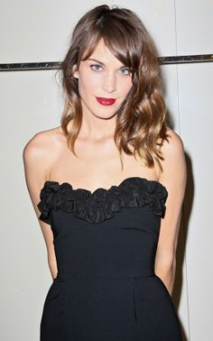 Alexa Chung's Hair from FNO '12. #ombre #bangs