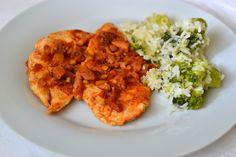 Palavras que enchem a barriga: Bifes de frango com bacon e tomate para uma Quarta louca :)